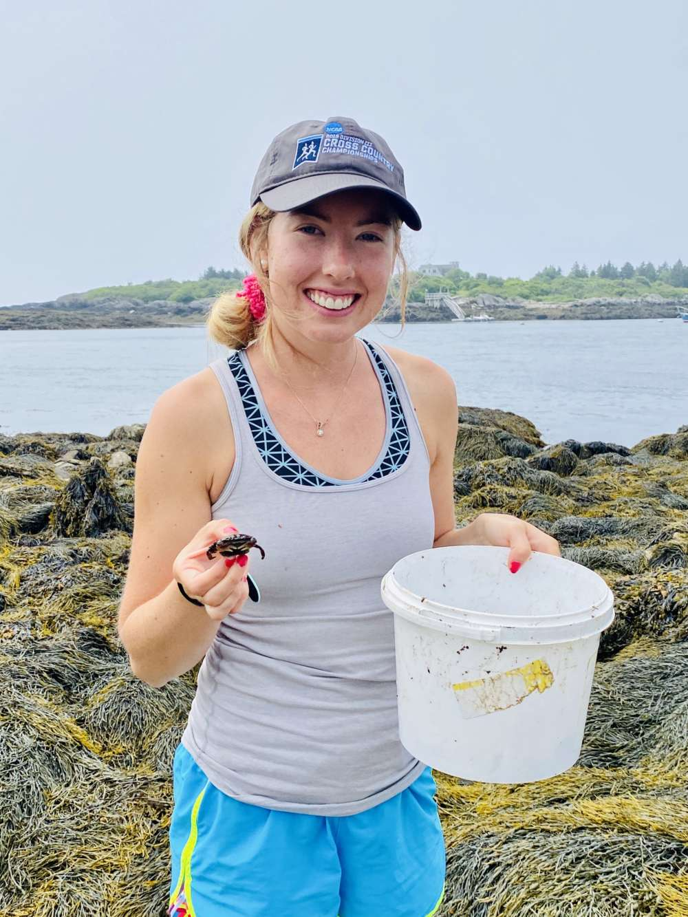 Phoebe Oehmig, 2020 research intern at the Wells Reserve