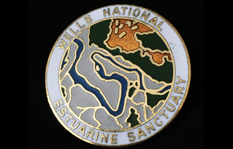 Cloisonne commemorative pin for Wells National Estuarine Sanctuary