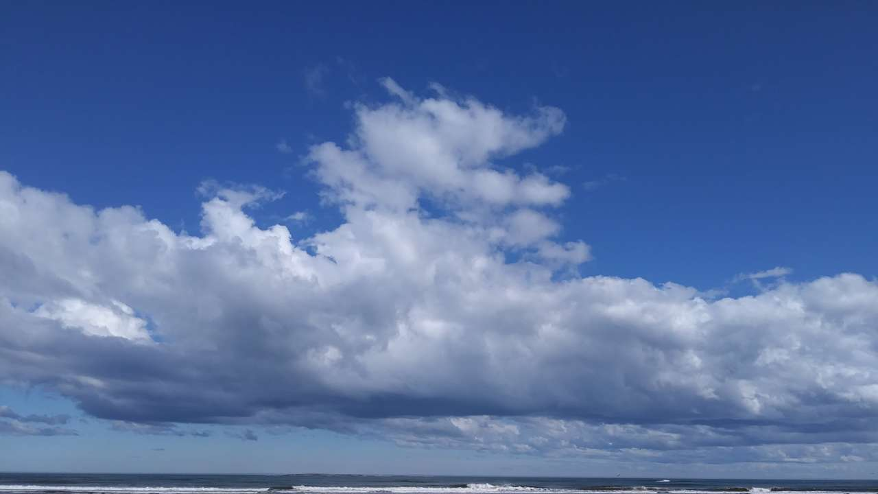 Laudholm Beach and clouds