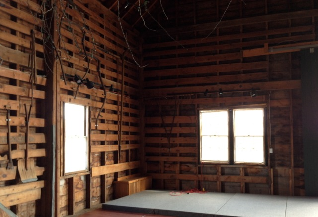 Interior Of Hay And Horse Barn At Historic Laudholm Farm