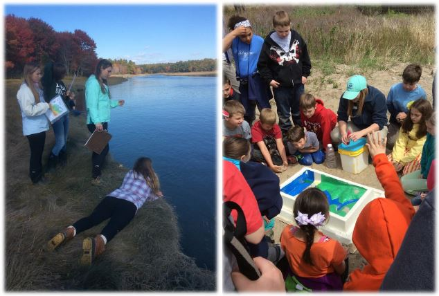 Students explore water quality in the marsh and learn about watersheds on the beach