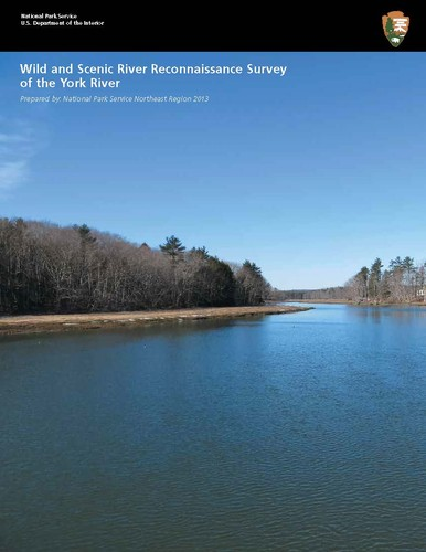 Cover of Wild and Scenic River Reconnaissance Survey of the York River, prepared by the National Park Service, 2013