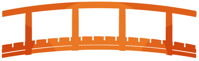 The orange bridge used as a symbol of boundary spanning through collaborative learning in the reserves.