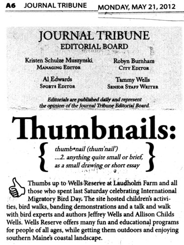 Thumbs up to the Wells Reserve at Laudholm... from the Journal Tribune