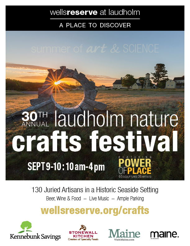 Flyer for 30th annual Laudholm Nature Crafts Festival