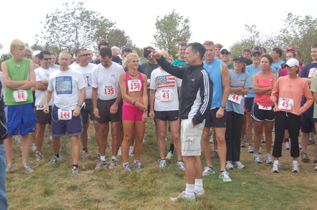 Runners receiving instructions at 2010 Laudholm 5K