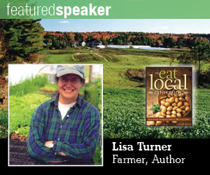 Lisa Turner, farmer and author, the featured speaker at EcoDay 2012