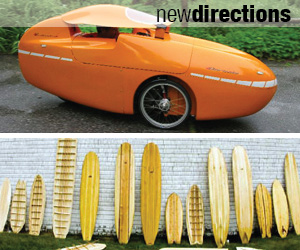 Velomobile and Grain Surfboards
