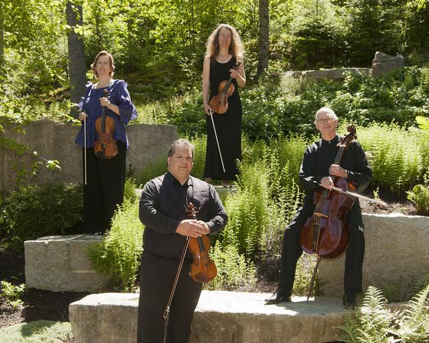 DaPonte String Quartet posing outdoors