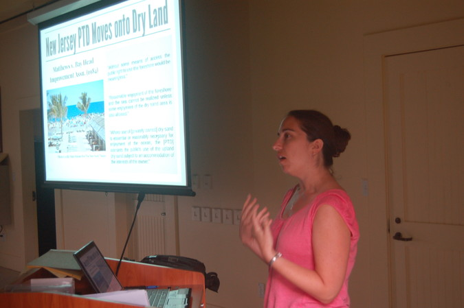 Stephanie Showalter Otts describes beach access laws in other states