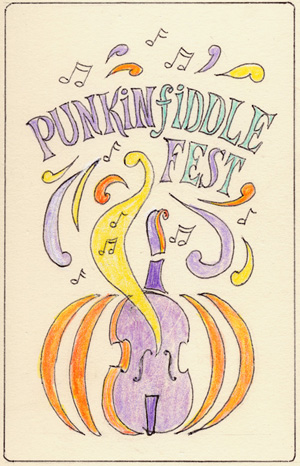 Original artwork for Punkinfiddle by Joe Havens