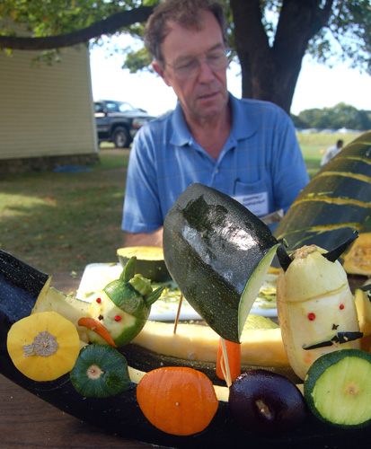 Geoff Boardman and his veggie vikings