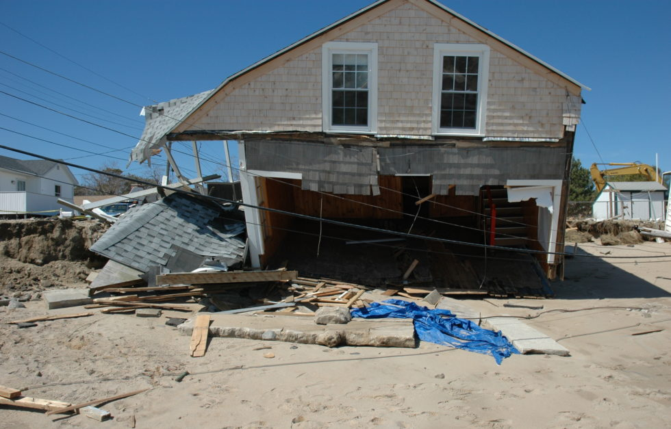 Saco home damaged by Patriots Day Storm 2007
