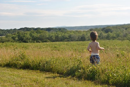 This boy was checked for ticks immediately following this photo. Eternal vigilance is the price of freedom... from ticks!