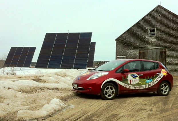 solar installation at Maine Audubon's Gilsland Farm
