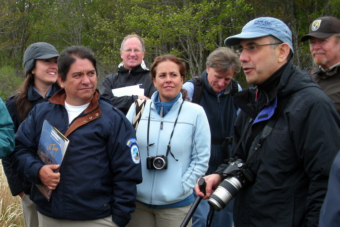 South American delegates participating in a New England study tour, out on the Little River marsh, May 2014