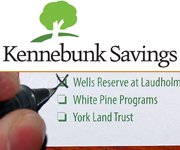 Choose Wells Reserve at Laudholm on your Kennebunk Savings customer ballot