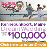 Ad for Real Maine Wedding of the Year