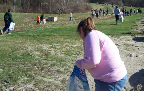 Nashoba Regional High School 2011 Earth Day cleanup.