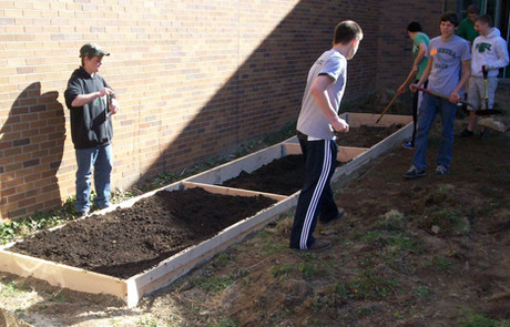 Nashoba Regional High School raised beds.