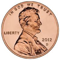 A Lincoln penny