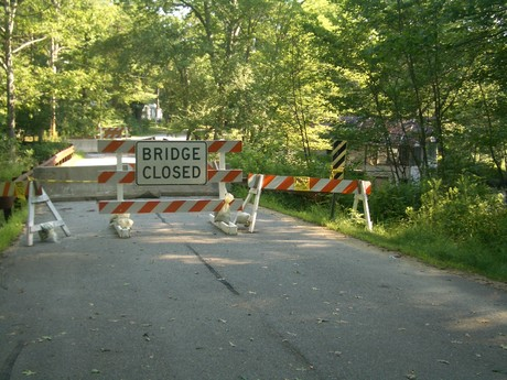 Skinner Mill bridge closure