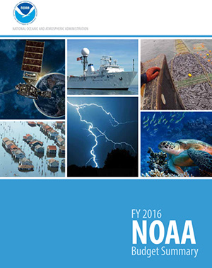 Cover from NOAA's FY 2016 Budget Summary