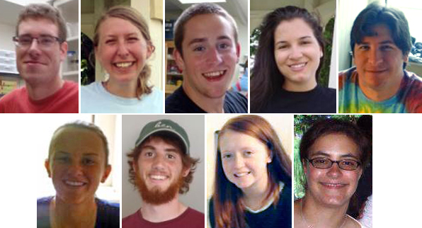 Nine interns from summer 2013: Tim, Ellen, David, Faye, Mike, Samantha, Ben, Katherine, Lauren