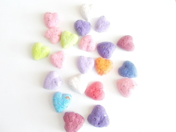 Colorful heart snack