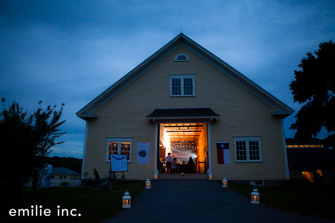 Laudholm barn at night. Photo © Whitney J. Fox for emilie inc.