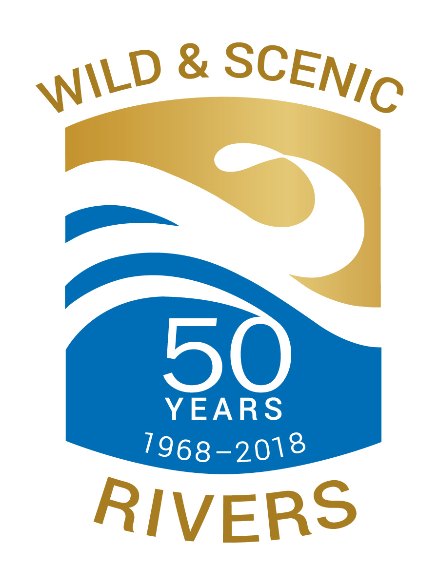 50th anniversary logo for the Wild & Scenic Rivers program